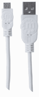 Hi-Speed USB Micro-B Device Cable White, 1 m