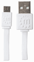 Flat Micro-USB Cable White, 1.8 m