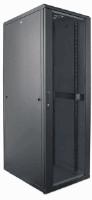 "19"" Network Cabinet, 42U, IP20-rated housing, Flatpack, Black"