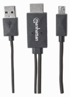 MHL HDTV Cable, Micro-USB 11-pin to HDMI, with USB type-A power