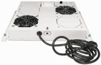 "2-Fan Ventilation Unit for 19"" Racks Grey RAL7035"