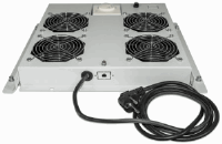 "4-Fan Ventilation Unit for 19"" Racks Grey RAL7035"