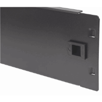 "19"" Blank Panel, 2U Cover for Unused Space in 19"" Cabinet, Metal, Black"