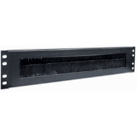 "19"" Cable Entry Panel, 2U, with Brush Insert, Black"