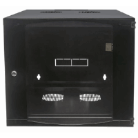 "19"" Double Section Wallmount Cabinet  Black, 600 (D) x 540 (W) x 327 (H) [mm]"