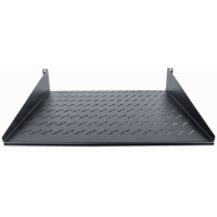 "19"" Cantilever Shelf, 2U, 2-Point Front Mount, 400 mm Depth, Vented, Black"