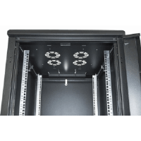 "19"" Network Cabinet, 22U, IP20-rated housing, Assembled, Black"