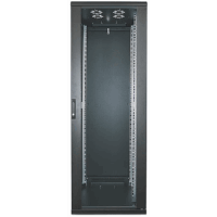"19"" Network Cabinet, 36U, 1728 (h) x 600 (w) x 600 (d) mm, IP20-rated housing, Assembled, Black"