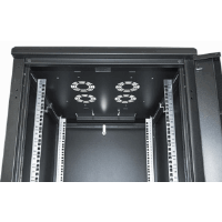 "19"" Network Cabinet, 42U, IP20-rated housing, Assembled, Black"
