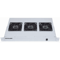 "3-Fan Ventilation Unit for 19"" Racks Gray, RAL7035"