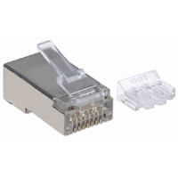 70-Pack Cat6A RJ45 Modular Plugs Pro Line