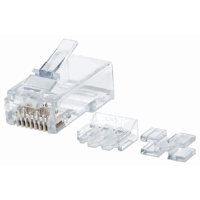 80-Pack Cat6A RJ45 Modular Plugs Pro Line