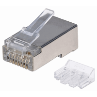 90-Pack Cat6A RJ45 Modular Plugs 21.5 (L) x 11.5 (W) x 8.2 (H) [mm]