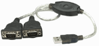 USB to Serial Converter, Connects Two Serial Devices To A USB Port, Prolific PL-2303RA Chip