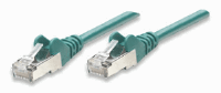 Network Cable, Cat6, UTP Green, 10.0 m