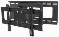Universal Flat-Panel TV Full-Motion Wall Mount Black,