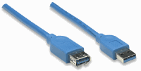 SuperSpeed USB Extension Cable Blue, 3 m