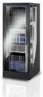 "19"" Server Cabinet, 27U, Removable Side and Rear Panels, Perforated Rear Panel, Depth 1000 mm, Black, only available in Europe"