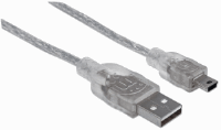 Hi-Speed USB Mini-B Device Cable Translucent Silver