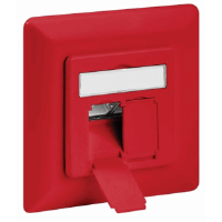 CAT6a Wall Plate Red