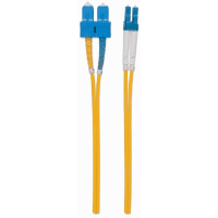 Fiber Optic Patch Cable, Duplex, Single-Mode, LC/SC, 9/125 µm, OS2, 2.0 m (7.0 ft.), Yellow