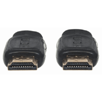 Flat High Speed HDMI Cable with Ethernet  Black