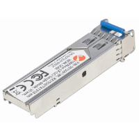 Gigabit Fiber WDM Bi-Directional SFP Optical Transceiver Module, 1000Base-LX (LC) Single-Mode Port, 10 km (6.2 mi.), WDM (RX1550/TX1310)
