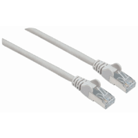 High Performance Network Cable, S/FTP 26 AWG, CAT7 Raw Cable, CAT6a Modular plugs, 1.5 m, Gray