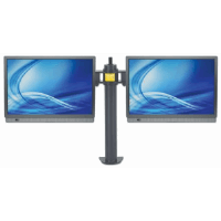 LCD Monitor Mount with Double-Link Swing Arms Black, 90 (L) x 720 (W) x 450 (H) [mm]