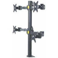 LCD Monitor Mount with Double-Link Swing Arms Black, 90 (L) x 720 (W) x 700 (H) [mm]