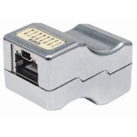 Locking Cat6 Inline Coupler Metallic