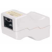 Locking Cat6 Inline Coupler White