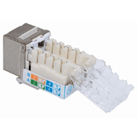 Locking Cat6 Keystone Jack Metallic