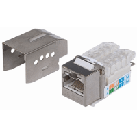 Locking Cat6A Keystone Jack Metallic