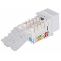 Locking Cat6A Keystone Jack White