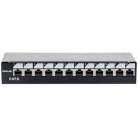 Locking Desktop Cat6 Shielded Patch Panel