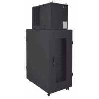"Micro Data Center, 19"", 42U, 600 x 1000 mm, IP54 Cabinet with 2 kW Cooling Unit, Black"