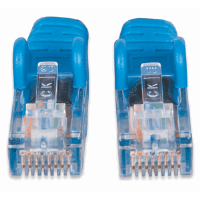 Network Cable, Cat5e, UTP Black w/ Blue Boot, 3.0 m