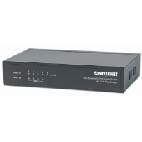 PoE-Powered 5-Port Gigabit Switch with PoE Passthrough