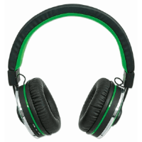 Sound Science Cosmos Comfort-Fit Wireless Headphones Black/Green