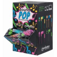 SoundPOP Earphone with In-Line Mic Countertop Display/Dispenser