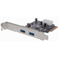 SuperSpeed+ USB 3.1 PCI Express Card, Two external SuperSpeed+ USB 3.1 ports, 2 type-A
