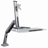 Universal Sit/Stand Workstation Mount Silver and Black, 1150 (L) x 666 (W) x 1020 (H) [mm]