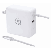 Power Delivery Wall Charger with Built-in USB-C Cable – 60 W White