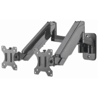Universal Gas Spring Dual Monitor Wall Mount