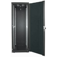 "19"" Network Cabinet, 26U, IP20-rated housing, Flatpack, Black"