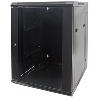 "19"" Double Section Wallmount Cabinet Black RAL9005, 500 x 600 x 550 (mm)"