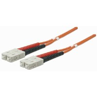 Fiber Optic Patch Cable, Duplex, Multimode, SC/SC, 50/125 µm, OM2, 2.0 m (7.0 ft.), Orange