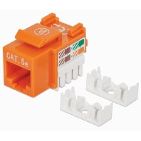 Cat5e Keystone Jack Orange
