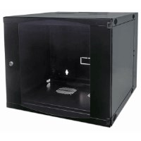 "19"" Double Section Wallmount Cabinet  Black, 600 (D) x 540 (W) x 460 (H) [mm]"